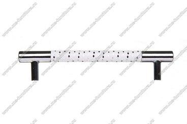Ручка-рейлинг 96 мм белый+хром 14.339-013 3