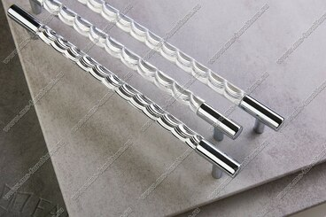 Ручка-рейлинг хром+хром 128 мм 14.256-06 4