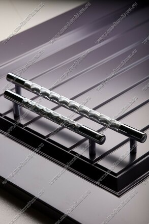Ручка-рейлинг хром+хром 128 мм 14.256-06 5