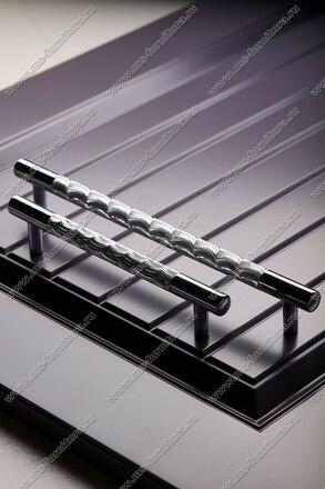 Ручка-рейлинг хром+хром 192 мм 14.258-06 6