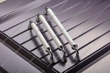 Ручка-скоба 320 мм хром/белый 833-320-V1/V6 4