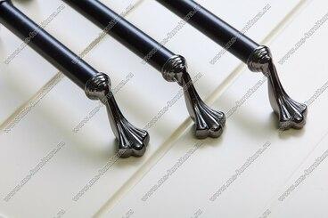 Ручка-скоба 128 мм антрацит/матовый черный 832-128-V4/V5 7