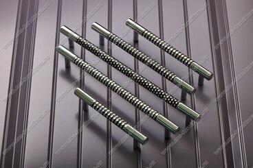 Ручка-рейлинг 224 мм хром+черный 14.343-011 4
