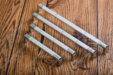 Ручка-рейлинг 256 мм алюминий+хром 14.134 5