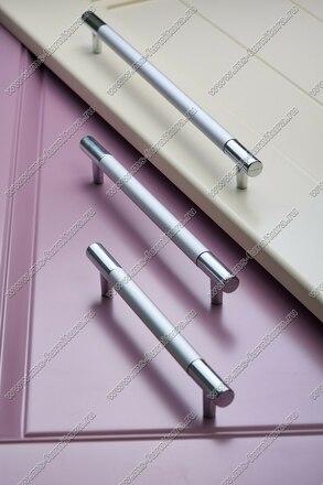 Ручка-рейлинг 160 мм алюминий + хром AL160 5