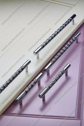 Ручка-рейлинг 128 мм хром+черный 14.256-011 5