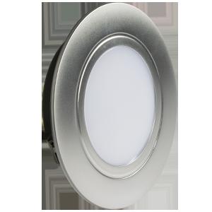 Светильник мебельный, диодный, комплект 3 шт., 4Вт, 4000К, перламутровый хром 1