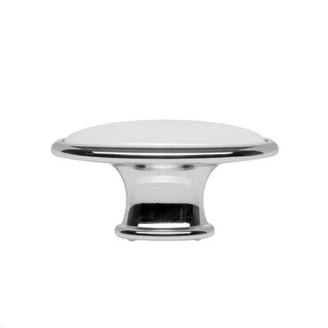 Ручка-кнопка с керамикой хром CANDY RC109CP.4/W 2