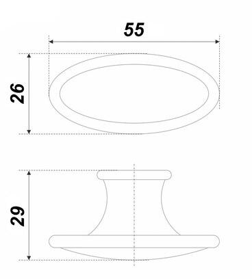 Ручка-кнопка с керамикой хром CANDY RC109CP.4/W 3