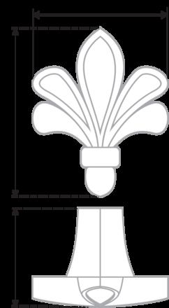 Ручка-кнопка белый + хром RC423CP/W.4 2