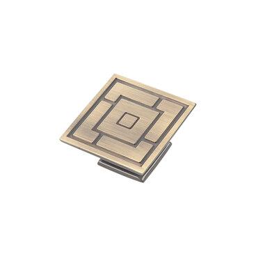 Ручка-кнопка античная бронза RK-027 BA 1
