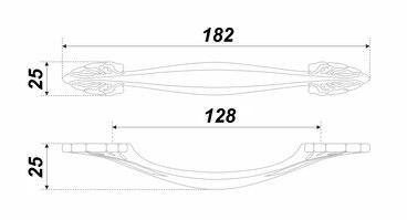 Ручка-скоба 128 мм белый + хром ХЛОПОК RS472CP/W.3/128 3