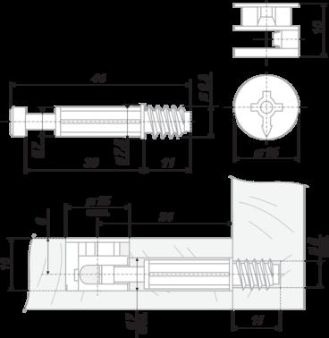 Стяжка B-fix ST01/48/6/Zn/01 BOYARD 2