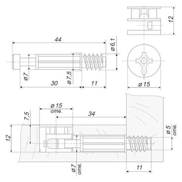 Стяжка B-fix ST01/51/6/RdZn/01 BOYARD 2