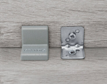 Заглушка для уголка Grandis пластиковый орех 25х25 мм 3