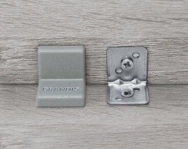 Заглушка для уголка Grandis малый пластиковый серый 20х20 мм 2