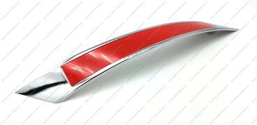 Ручка-скоба 160 мм хром со вставкой красный VGX-160-02/08 1