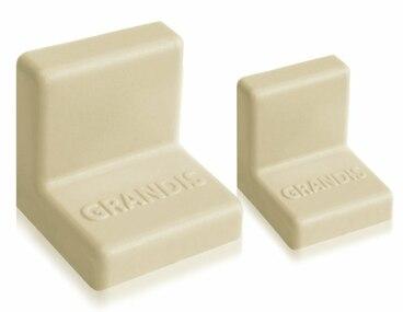 Заглушка для уголка Grandis малый пластиковый ясень 20х20 мм 1