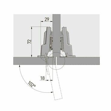 ZM-DCHC08-3DBEO Петля с доводчиком полунакладная clip on 3D GTV 3