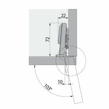 ZM-DCHC09-3DBEO Петля с доводчиком накладная clip on 3D GTV 3