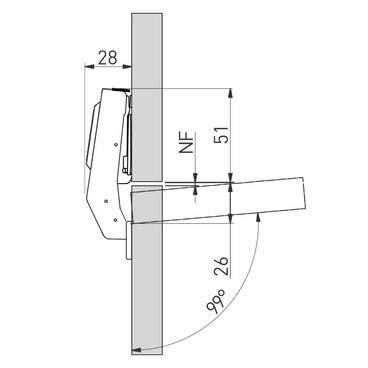 ZM-HCKT90-3DBEO-S Петля 90 град 3D для фальш панелей с доводчиком clip on GTV 3